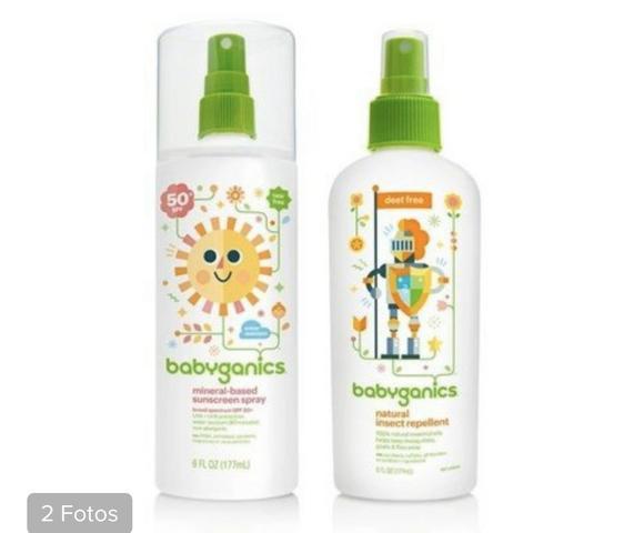 Kit babyganics repelente e protetor solar fator 50
