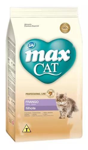 Ração max cat profissional line filhote frango 1kg