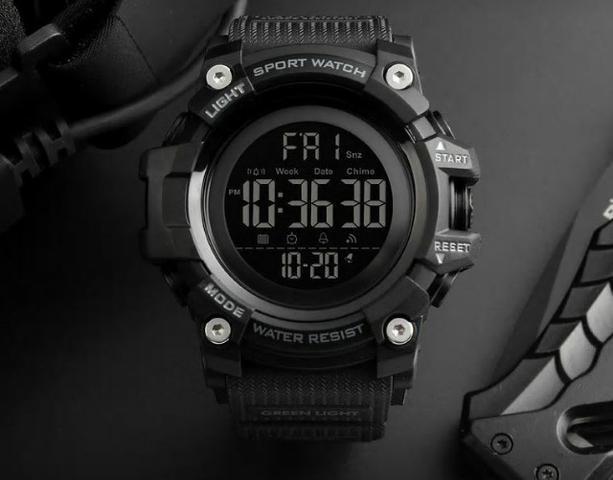 Relógio digital display heavy duty prova da água skmei