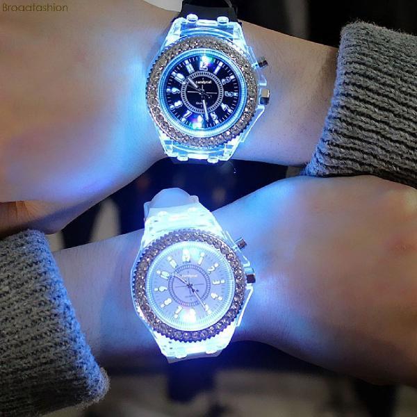 Relógio masculino analógico com iluminação led e