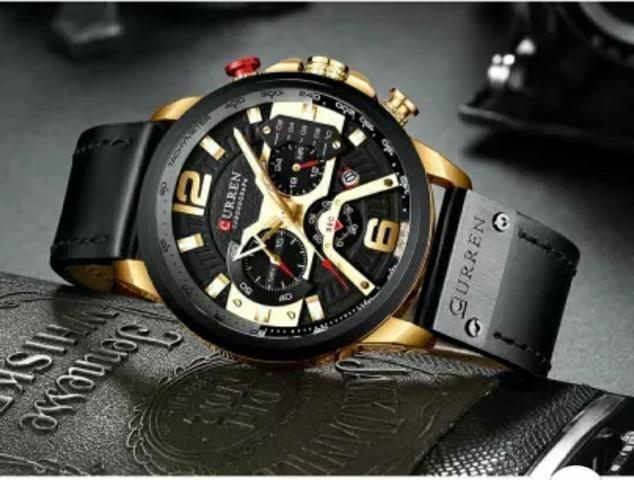 Relógio masculino curren militar quartzo original
