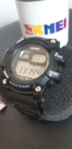 Relógio skmei estilo militar original digital resistente