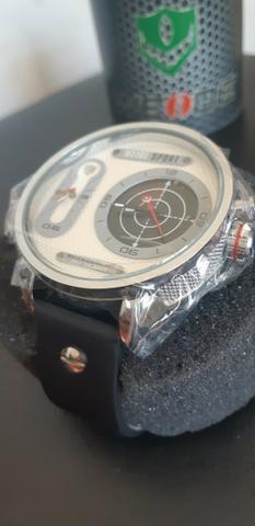Relógio de couro weide de grande porte original (tenho
