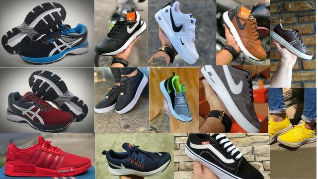 Tênis e sandálias na promoção