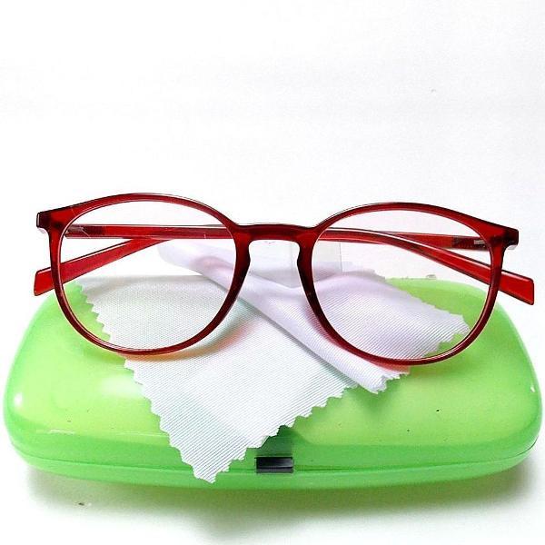 Armação óculos thin clássica vermelha