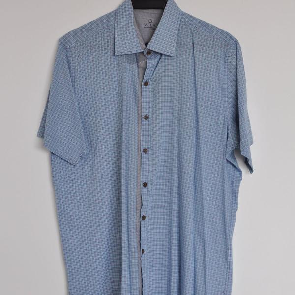 Camisa masculina xadrez manga curta