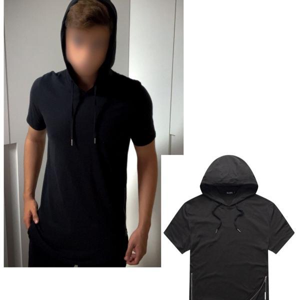 Camiseta com capuz preta nova