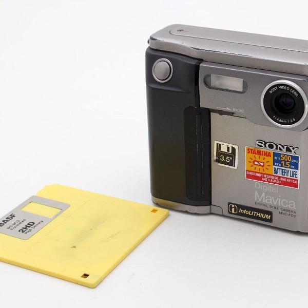 Câmera sony mavica pré-historia digital