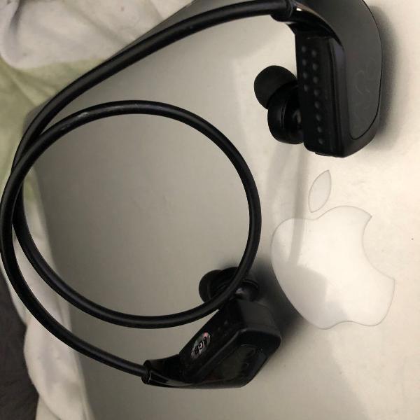 Fone de ouvido mp3, sony walkman, 8gb, preto