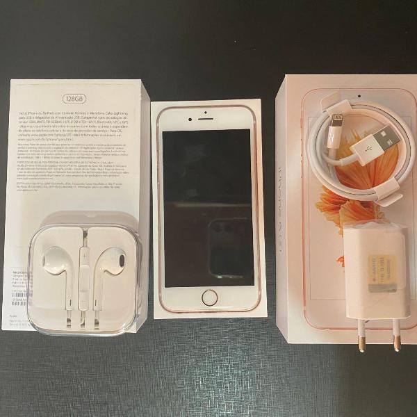 Iphone 6s 128gb ouro rose usado perfeito estado