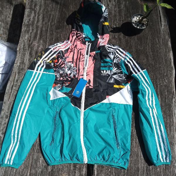 Jaqueta corta vento adidas neo abrigo casaco windbreaker
