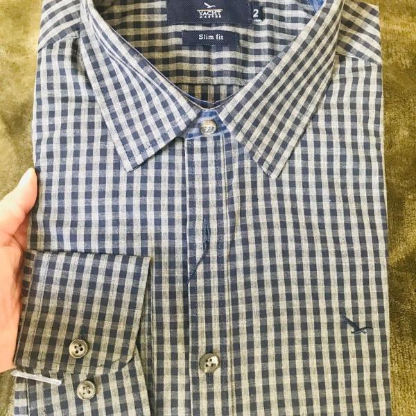 Nova camisa xadrez marca yachtmaster tamanho 2 slim fit :)