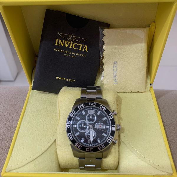 Relógio invicta original - prata com preto