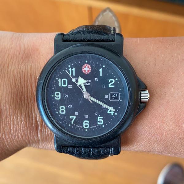 Relógio swiss army preto