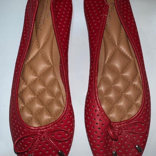 Sapatilha vermelha sapato da corte 36 nova