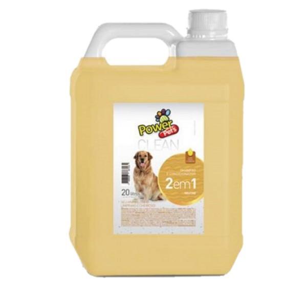 Shampoo para cães 2x1 neutro - uso profissional 5l