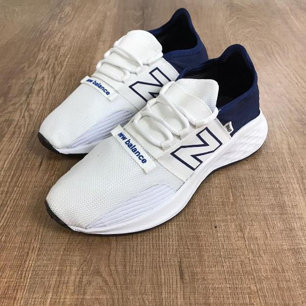 Tênis new balance branco com azul envio imediato