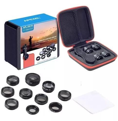 10 lentes celular profissional p/ smartphones samsung iphone