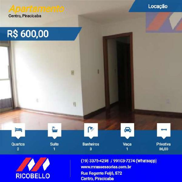Apartamento locação - centro - piracicaba - sp