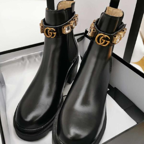 Ankle boot gucci de couro importada luxo botinha