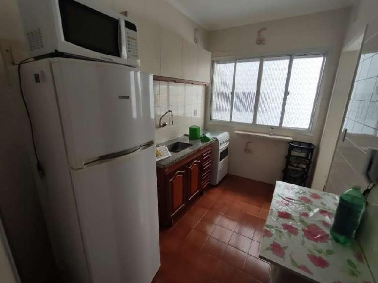 Apartamento com 1 dormitórios mobiliado - praia grande - sp