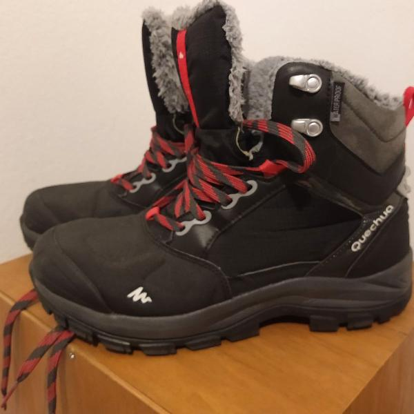 Bota feminina de trilha na neve impermeável sh500