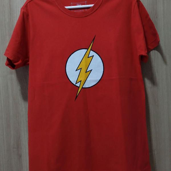 Blusa masculina com o símbolo do flash tamanho p algodão