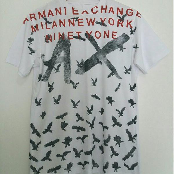 Camisa armani exchange branca pássaros