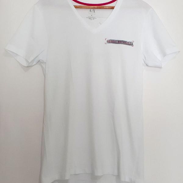 Camisa armani branca gola v