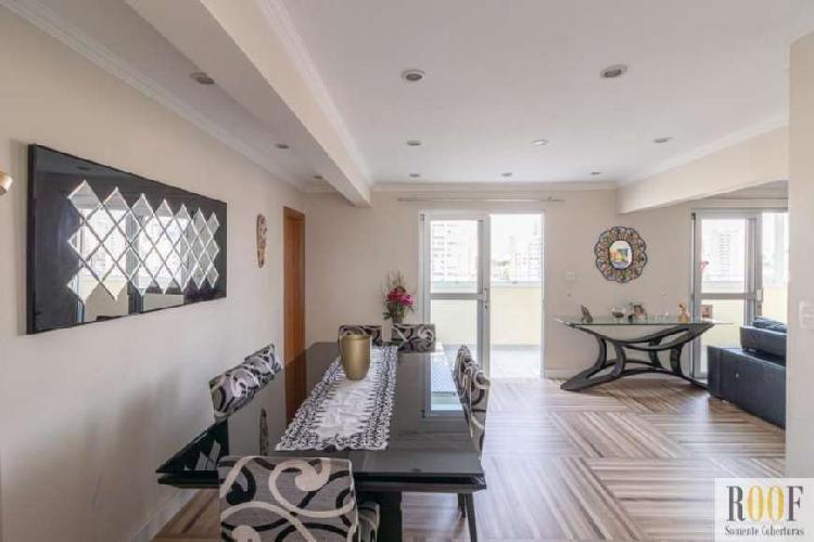 Cobertura na aclimação com 170 m² sendo 3 dormitórios, 1