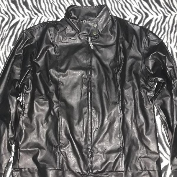 Jaqueta masculina em couro sintético east