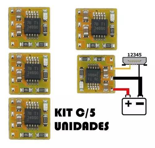 Kit 5 placa carregamento universal easy chip charger