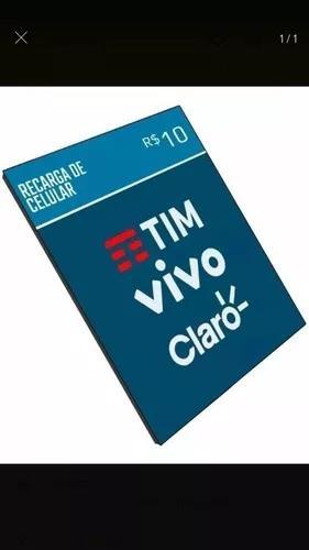 Recarga de celular online 10 reais para vivo,tim,claro,oi