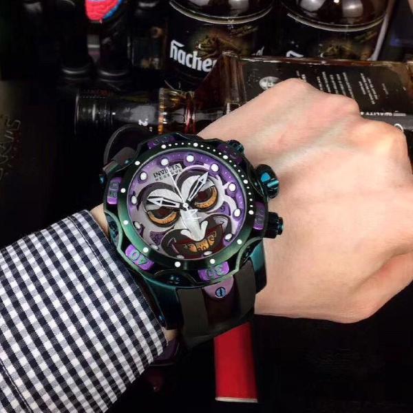 Relógio invicta coringa joker dc comics linha premium 100%