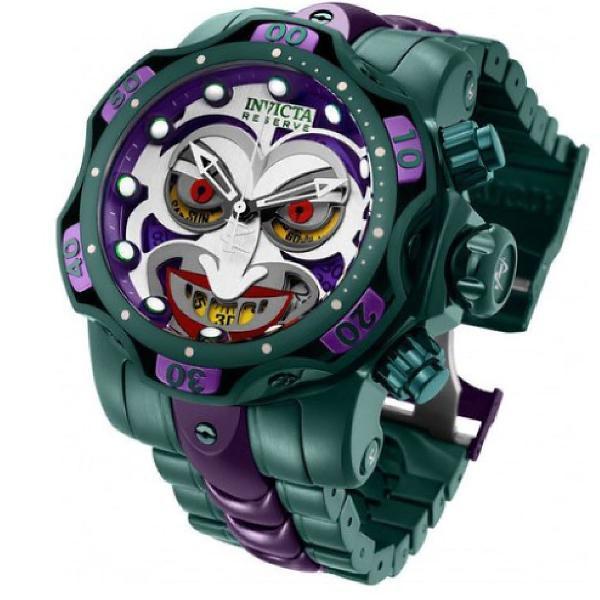 Relógio invicta coringa joker dc comics linha premium