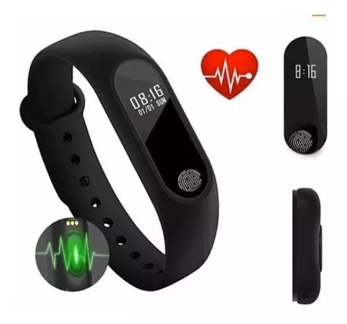 Relógio medidor inteligente cardíaco e pulso batimentos m2