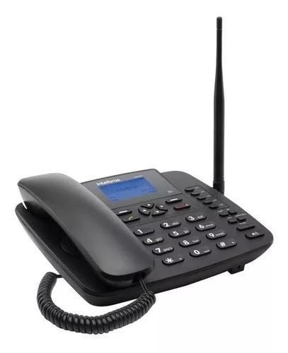 Telefone celular fixo rural 3g intelbras com bina cf 6301