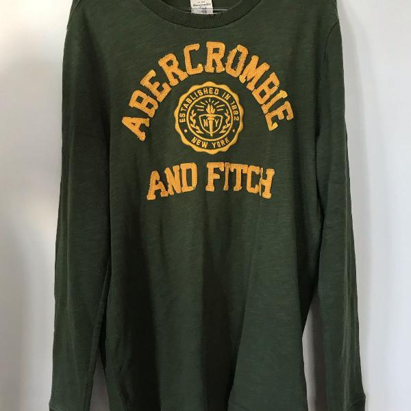 Blusa manga comprida verde militar