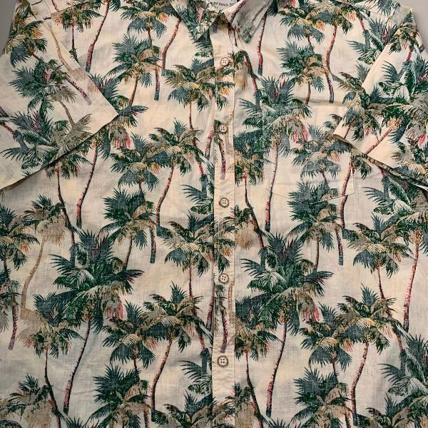 Camisa masculina estampada lindíssima marfinno