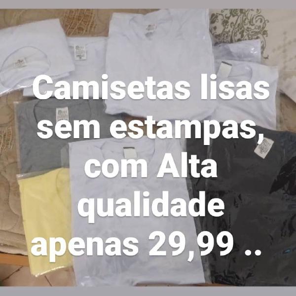 Camisetas lisas sem estampas. unissex