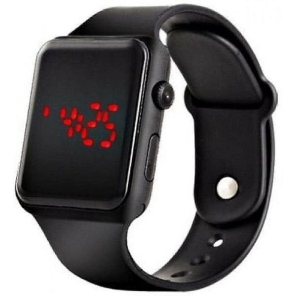 Relógio de pulso digital led masculino feminino preto