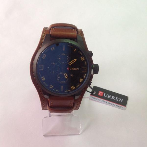 Relógio masculino curren bracelete marrom