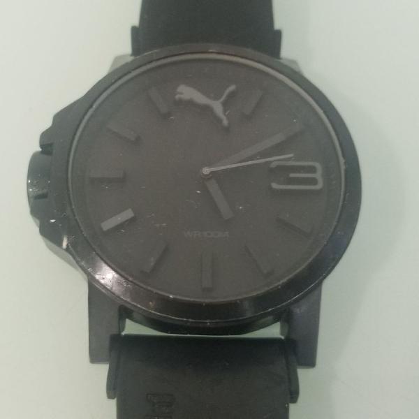 Relógio preto puma