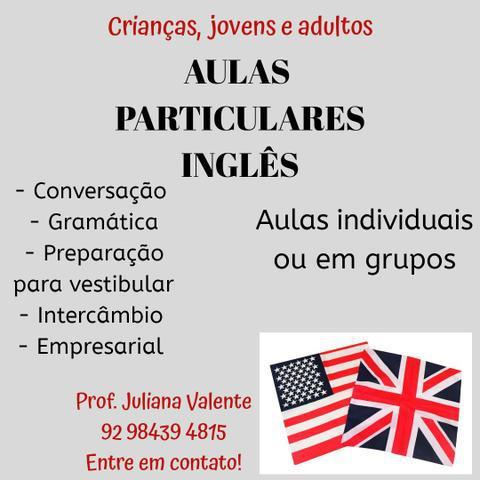 Aulas particulares inglês domicílio