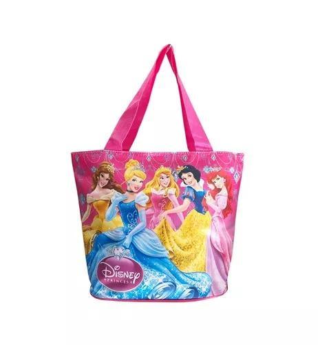 Bolsa princesas disney tipo sacola infantil criança