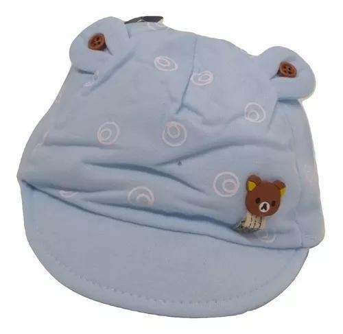 Boné infantil rn c/aba bebê nenê criança verão ursinho
