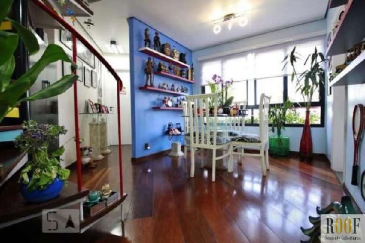 Cobertura duplex mobiliada no panamby com 97 m² au. sendo 2