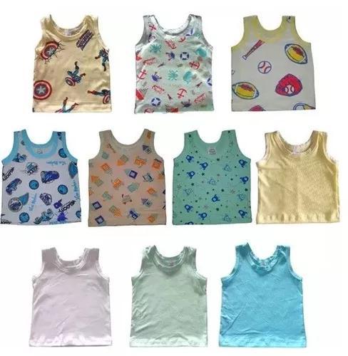 Camisetas regatas bebê menino criança masculino kit 10