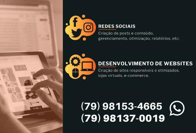 Criação de sites, lojas virtuais e administração de