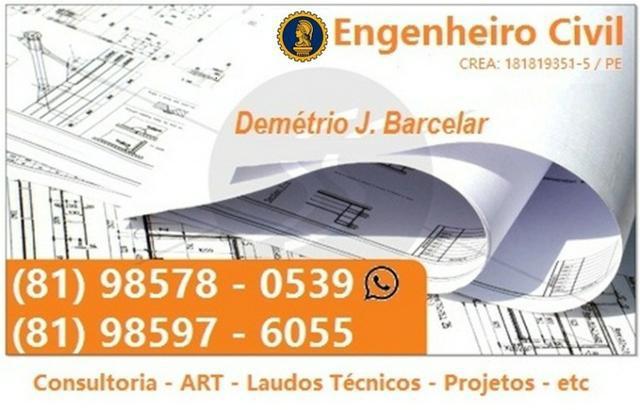 Engenheiro civil - projetos - reformas - art - laudos